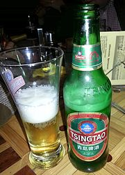 Bottle_and_glas_of_Chinese_Tsingtao_beer